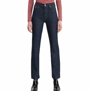 Levi's 501 Straight High Rise Cropped Jeans sz 27
